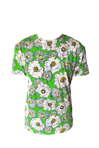 Prada Erkek Bisiklet Yaka Renkli T-shirt