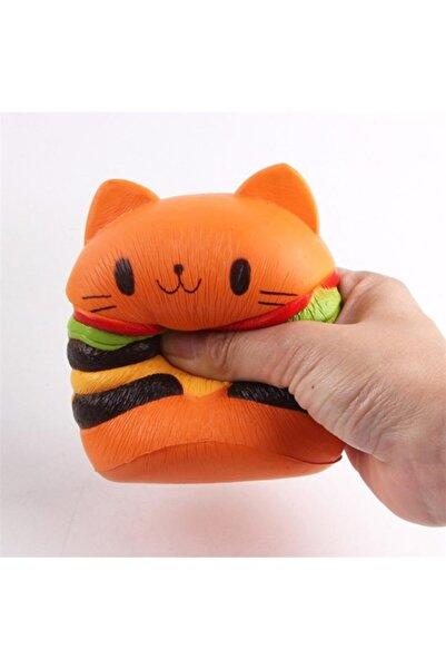 Squishy Hamburger Kedi Turuncu