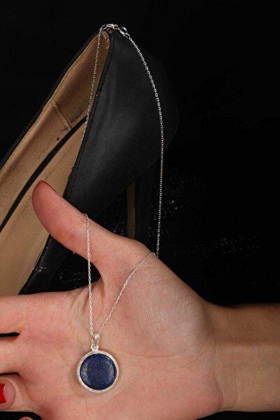 Dr. Stone Lapis Lazuli 925 Ayar Gümüş Zincirli Kadın Kolye 120ar795