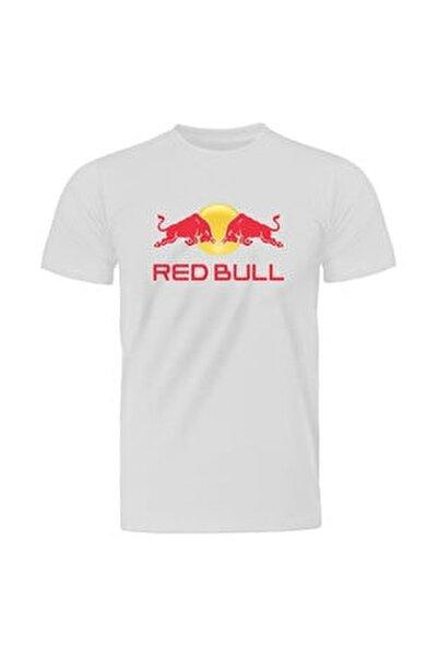 Casual Red Bull Logo Beyaz Tişört