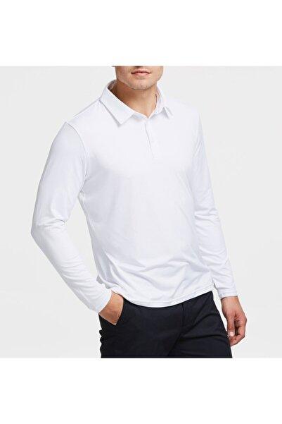 NZY Tekstil Beyaz Polo Yaka Uzun Kol Çocuk Okul T-shirt