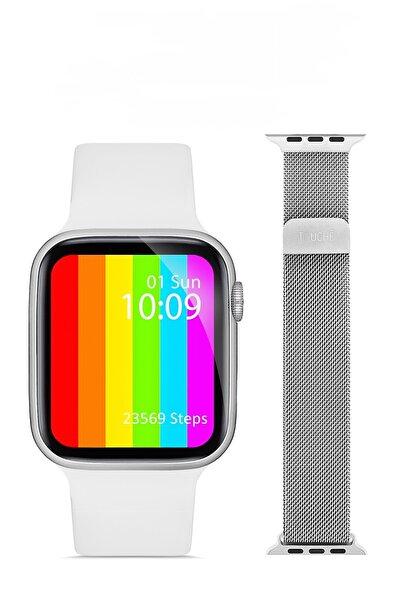 TOUCHE WATCH Watch 6 Apple Android Huawei Uyumlu Akıllı Saat Arama Yapma Özellikli Nabız Ölçer Yedek Kordonhediye