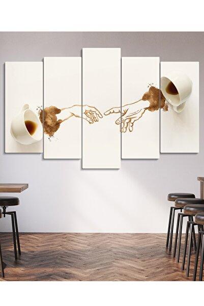 Evinemoda Michelangelo Kahve 5 Parçalı Mdf Mutfak Tablo