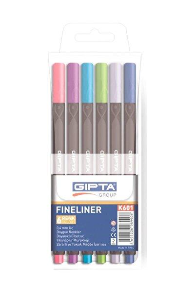 Gıpta Fineliner Kalem 0.4 Mm Pvc Kutu 6 Renk