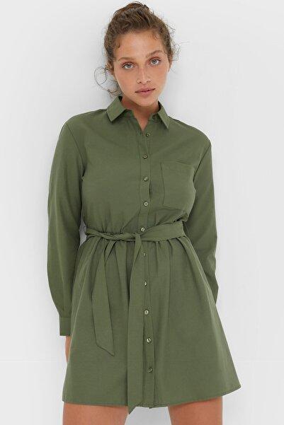 Stradivarius Mini Oxford Gömlek Elbise