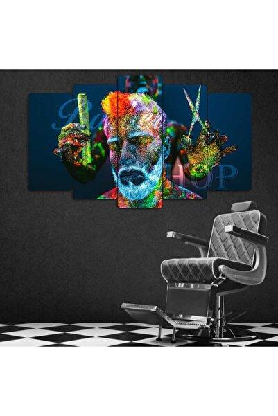 Evonya Berber ,barber Shop - 5 Parçalı Dekoratif Tablo