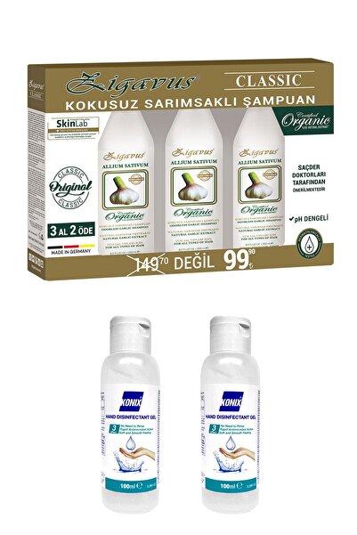 Zigavus Kokusuz Sarımsaklı Şampuan 3 x 250 Ml + Konix Dezenfektan 2 x 100 Ml