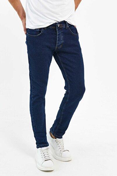 Newtime Erkek Pantolon Skinny Fit Likralı Koyu Lvs Mavi