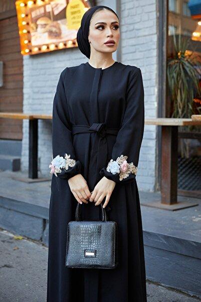 TUBA MUTİOĞLU Çiçek Ferace Elbise