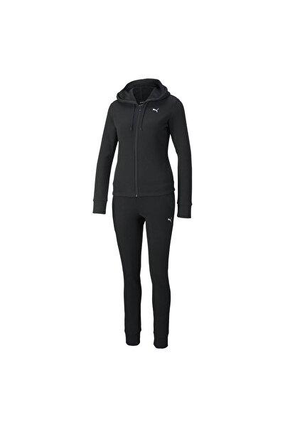 Puma 589132-01 Classic Hooded Sweat Suit Fl Kadın Eşofman Takım Black