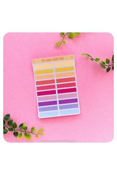 Nila Tasarım Washi Tape Sticker Sayfa