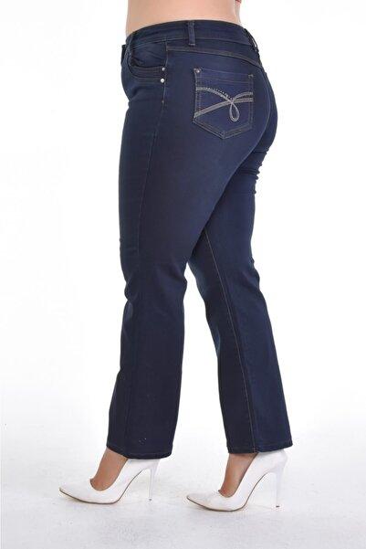 Era Lisa Büyük Beden Tam Boru Paça Pantolon