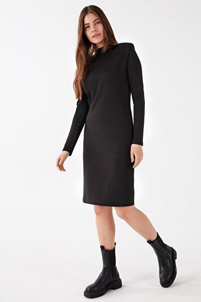 Chima Vatkalı Dik Yaka Elbise
