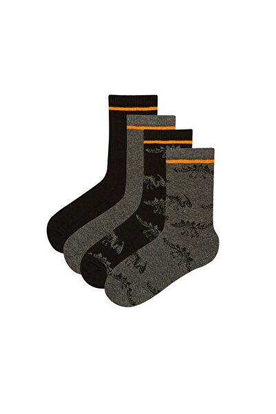 Penti Siyah Dark Dino 4lü Soket Çorap