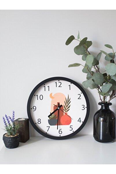 Mitra Clock Dekoratif Duvar Saati 30cm Gerçek Cam Sessiz Akar Mekanizma Baskılı Mutfak Salon Saati