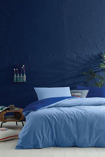 Yataş Bedding Noah Ranforce Çift Kişilik Xl Nevresim Seti %100 Pamuk Açık Lacivert/açık Mavi