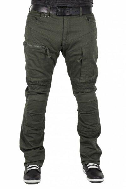 Tech90 Madra Kevlar Haki Yeşil Kanvas Korumalı Pantolon