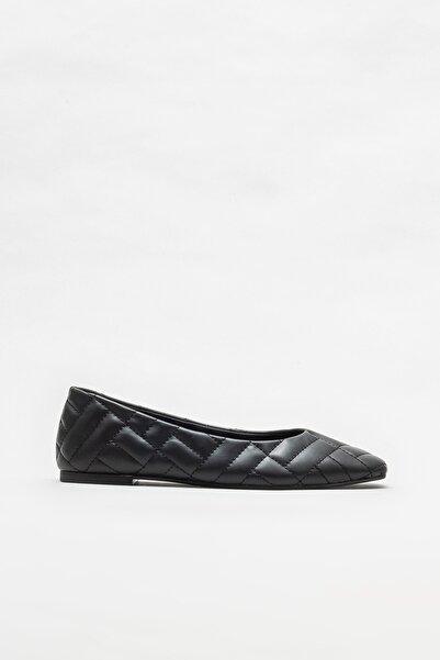 Elle Shoes Siyah Kadın Babet