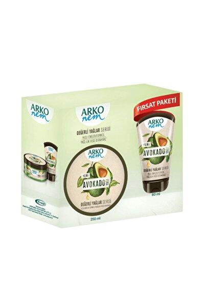 ARKO Nem Değerli Yağlar Avokado El Ve Vücut Kremi 250 ml Ve 60 ml Seti