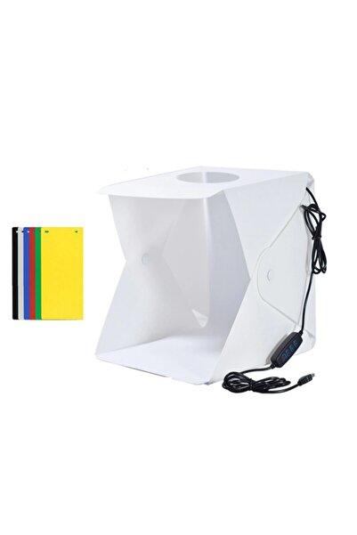ZAUSS 40 X 40 Cm Taşınabilir Profesyonel Stüdyo Led Işıklı Fotoğraf Çekim Çadırı