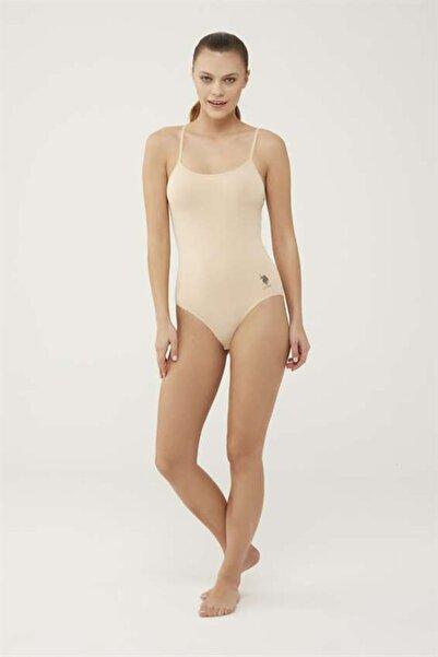 U.S. Polo Assn. Kadın Ten Ip Askılı Çıtçıtlı Body