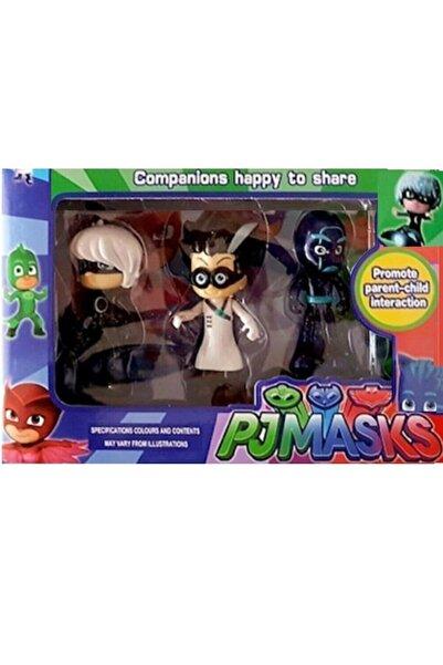 TURKAFONE 3'lü Pjmasks Figür Oyuncakları Pijamaskeliler Figür Seti Romeo Gece Ninjası Ay Kız