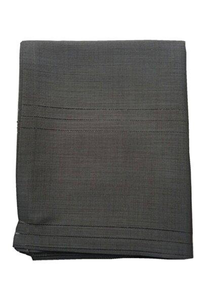 Gülce Home Collection Keten Kumaş Çizgili Masa Örtüsü Siyah