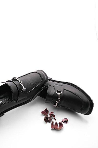 Marjin Kadın Loafer Ayakkabı Racessiyah