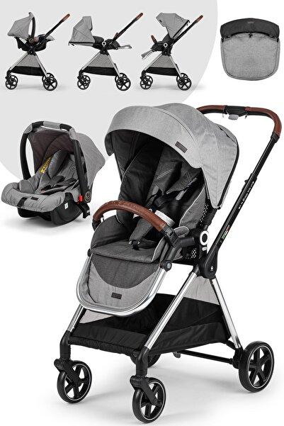 Elele Mido Travel Sistem Bebek Arabası Gri-siyah