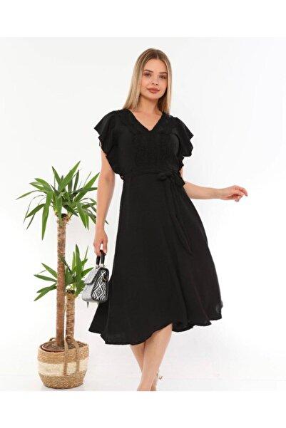 Miss Selens Önü Dantel Detaylı Elbise