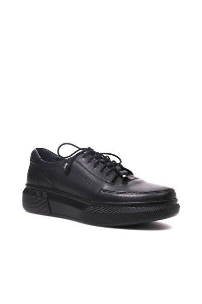 Beta Hakiki Deri Kadın Siyah Sneaker