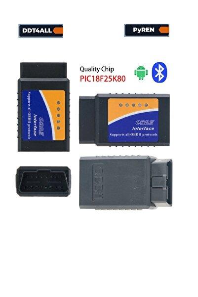 OBD 1.5 V Elm327 Bluetooth Pıc18f25k80 Chip Renault Peyren-ddt4all-dtcfix-Renault-Ford-Toyata-Fiat