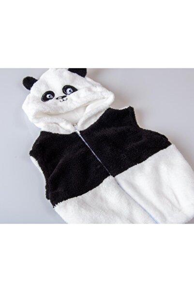 POKY BEBE Erkek Kız Bebek Çocuk Tekli 1-3 Yaş Kapüşonlu Sevimli Panda Welsoft Yelek-5144
