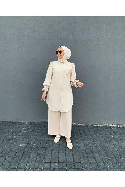 Loreen Tuhara Butik Kolları Fırfırlı Tunik Gömlek