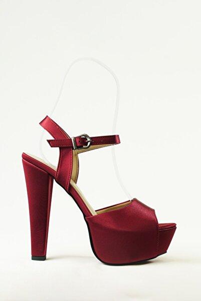 Mepa Ayakkabı 14cm Vişne Çürüğü Saten, Abiye Ayakkabı, Rahattır, Çok Dengelidir.