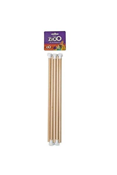 ZioO Başlıklı Tahta Tünek 30 Cm 5 Li