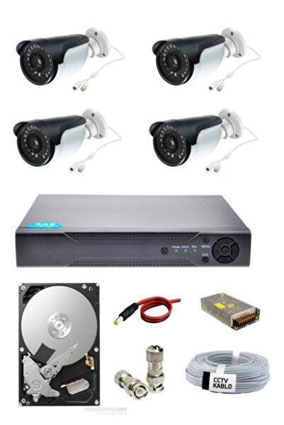 OEM 4 Lü Güvenlik Kamera Seti 1080p Ahd Kamera Seti Gece Izlenebilir