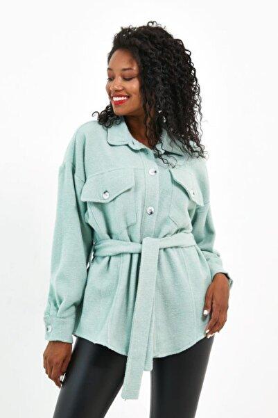 VOLT CLOTHİNG Kadın Kuşaklı Oversize Ceket
