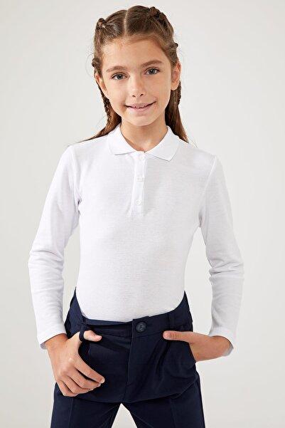 DeFacto Kız Çocuk Uzun Kollu Polo Tişört