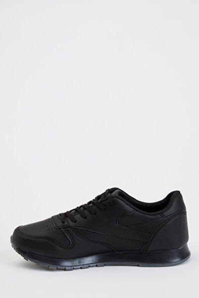 DeFacto Fit Erkek White And Black Bağcıklı Sneaker Ayakkabı S1201AZ20AU