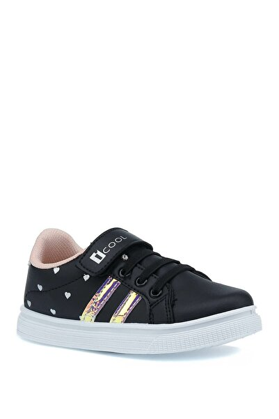 I COOL 1pr Siyah Kız Çocuk Sneaker