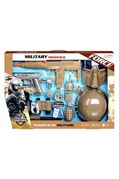 YıldızDükkan Power Gun Asker Oyuncak Seti Çocuk Polis Asker Oyun Seti