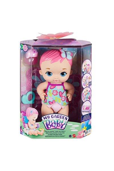 mattel Gyp10 My Garden Baby, Kelebek Bebeğimin Bakım Zamanı, Pembe Saçlı Bebek / +3 Yaş