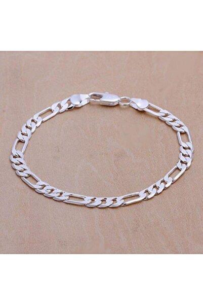 Mimozaavm 925 Ayar Erkek Kadın Unisex Figaro 6mm Gümüş Zincir Bileklik