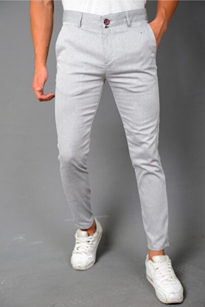 JOGGERMEN Erkek Likralı Keten Pantolon