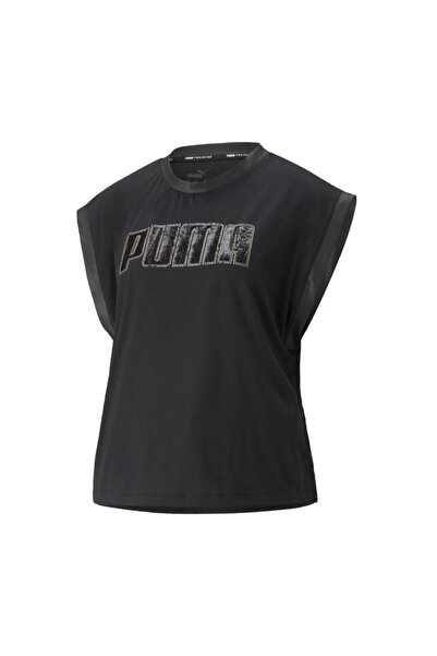 Puma 520928-01 Moto Tank Black Kadın T-shirt Siyah