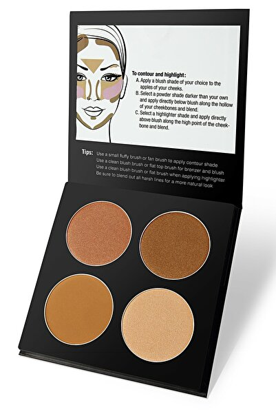 Galancy 4'lü Aydınlatıcı&kontür Paleti - Highlighter&contour Pro 4 Colors Palette 01 Light
