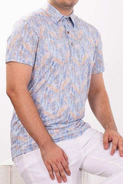 Mondo Polo Yaka Mozaik Desenli T-shirt