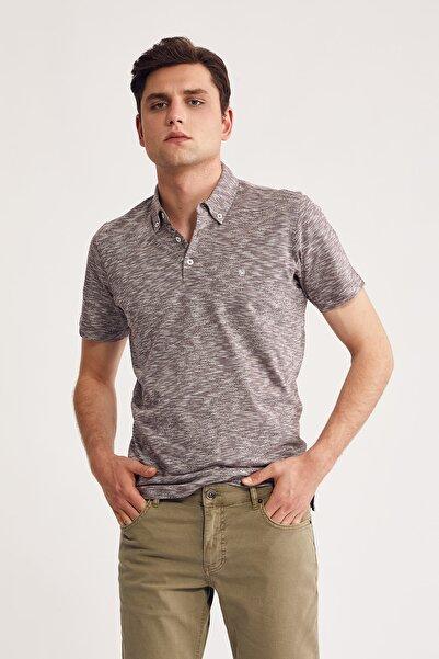 Bisse Erkek Bordo Desenli Polo Yaka T-shirt