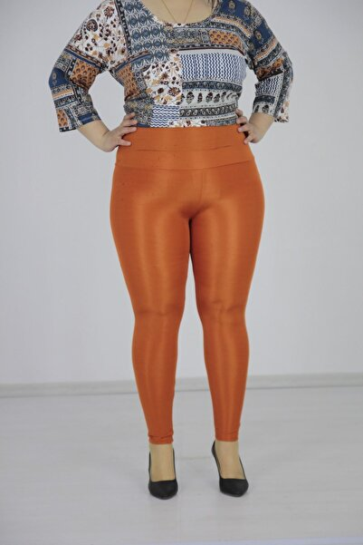 Truva XXL Büyük Beden Kadın Giyim Parlak Disco Tayt